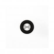 Gumb, kovinski, 28, 19582-105, črna