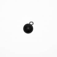 Gumb, perla 10, 19586-002, črna