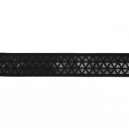 Elastikband,  dekorativ, 30mm, 19597-002, schwarz