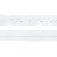 Elastikband mit Schnur, 40 mm, 19599-001, weiß