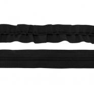 Elastikband mit Schnur, 40 mm, 19599-022, schwarz