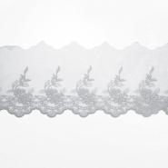 Čipka, vezena, 85mm, 19254-034, siva