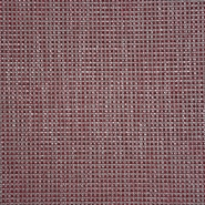 Dekostoff, Jacquard, Karo, 19615-005, rot-beige - Bema Stoffe