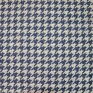 Deko žakard, pepita, 19620-004, modra