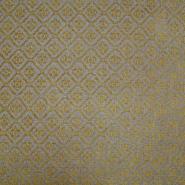 Deko žakard, ornamentni, 19613-003, žuto-bež