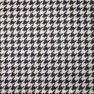 Deko žakard, pepita, 19620-003, bordo