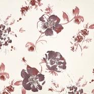 Deko, tisk, cvetlični, 19631-001, rdeča