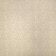 Deko žakard, geometrijski, 19641-006, bež bela