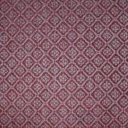 Deko žakard, ornamentni, 19613-005, crveno-bež
