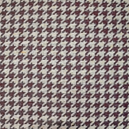Deko žakard, pepita, 19620-008, crvena