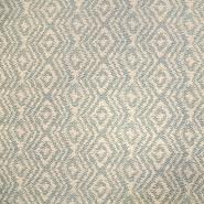 Deko Jacquard, geometrisch, 19641-001, beige-petroleum