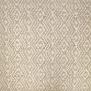 Deko Jacquard, geometrisch, 19641-004 beige-grau