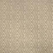 Deko, Jacquard, geometrisch, 19641-005, beige-braun