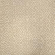 Deko žakard, geometrijski, 19641-008, bež bela