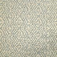 Deko Jacquard, geometrisch, 19641-011, beige-petroleum