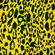 Jersey, bombaž, živalski, 19646-035, rumena - Svet metraže