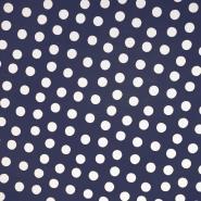 PVC für Regenmäntel, Punkte, 19115-3001, blau