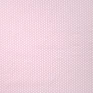 Pamuk, popelin, zvijezde, 19657-012, ružičasta