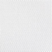 Bombaž, poplin, zvezde, 19657-101, belo črna