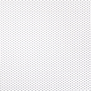 Bombaž, poplin, zvezde, 19657-113, sivo bela