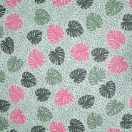 Tetra tkanina, dvostruka, priroda, 19660-006, mint-ružičasta