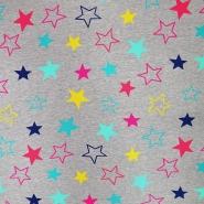 Triko materijal, čupav, zvijezde, 19668-021