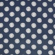 Jersey, Viskose, Punkte, 19711-006, blau