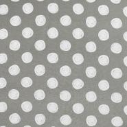 Jersey, Viskose, Punkte, 19711-026, graugrün