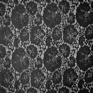 Čipka, elastična, cvetlični, 19726-069, črna