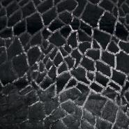 Krzno, umjetno, geometrijski, 19816-069, crna