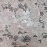 Pletivo, melanž, cvetlični, 19819-132, roza srebrna