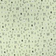Jersey, pamuk, slova, 19837-22, zelena