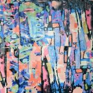 Krzno, umjetno, kratkodlako, apstraktni, 19849-0801