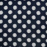 Jersey, Viskose, Punkte, 19711-008, dunkelblau