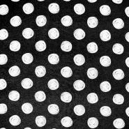 Jersey, Viskose, Punkte, 19711-069, schwarz
