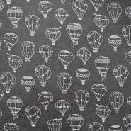 Triko materijal, čupav, baloni, 19913-002, siva