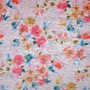 Kunstpelz, kurzhaar, floral, 19915-001
