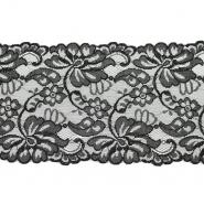 Čipka, elastična, 150 mm, 19976-31391, crna