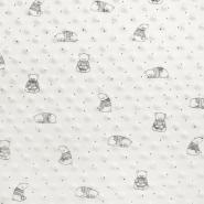 Velur coral, Minky, medvjedići, 19880-020, bijela