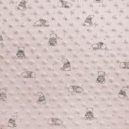 Velours, Coral, Minky, Bärchen, 19880-092, rosa