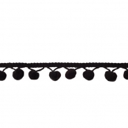 Pomponborte, 19544-10014, schwarz