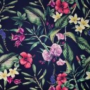 Saten, bombaž, cvetlični, 19895-600