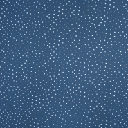 Tetra tkanina, dvojna, pike, 19032-012 modra