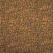 Jersey, pamuk, životinjski, 19981-63237, oker