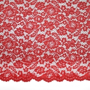 Spitze, floral, 19967-004, rot