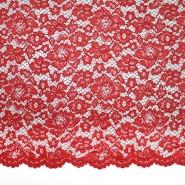 Čipka, cvjetni, 19967-004, crvena