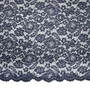 Spitze, floral, 19967-005, dunkelblau