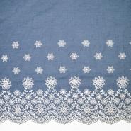 Jeans, srajčni, vezen, cvetlični, 19918-002, svetlo modra