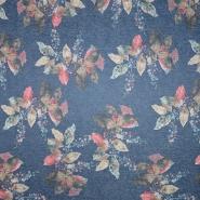 Pletivo, melanž, cvetlični, 19920-001, modra