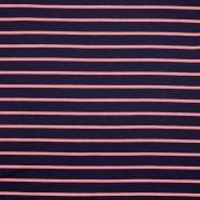 Sweatshirtstoff, Streifen, 19079-010, dunkelblau